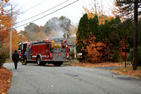 Working Fire Lincoln, RI Angell Rd October 28, 2015