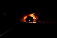 Auto Fire Uxbridge, MA Rte-146 SB @ RI State Line November 24, 2010
