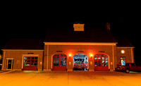 Fire stations at night