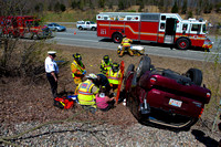 MVA Rollover Lincoln, RI Rte-295 Northbound April 14, 2010
